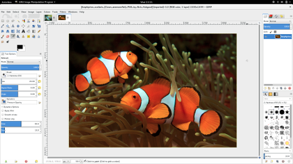 GNU Image Manipulation Program Screenshot