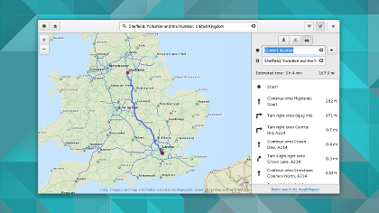 Mapa com indicações de tela