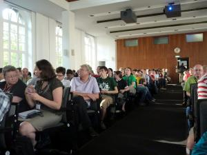 A full audience for the debate