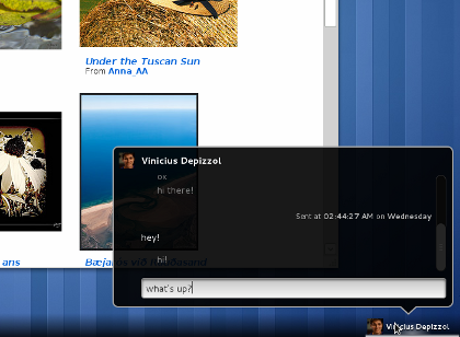 Image of Messaging Tray from gnome.org
