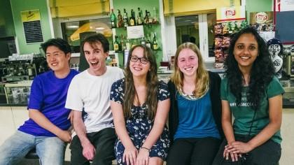 New contributors at GUADEC 2012 (Copyright Garrett LeSage)