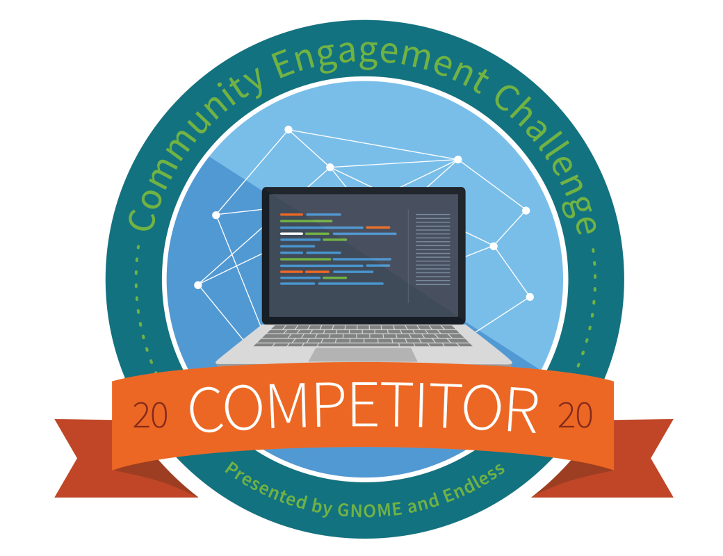 Gnome's Community Engagement Challenge 2020 Badge