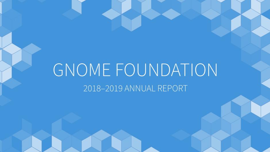 GNOME 2018-2019 Annual Report Cover