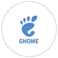 GNOME logo sticker - white
