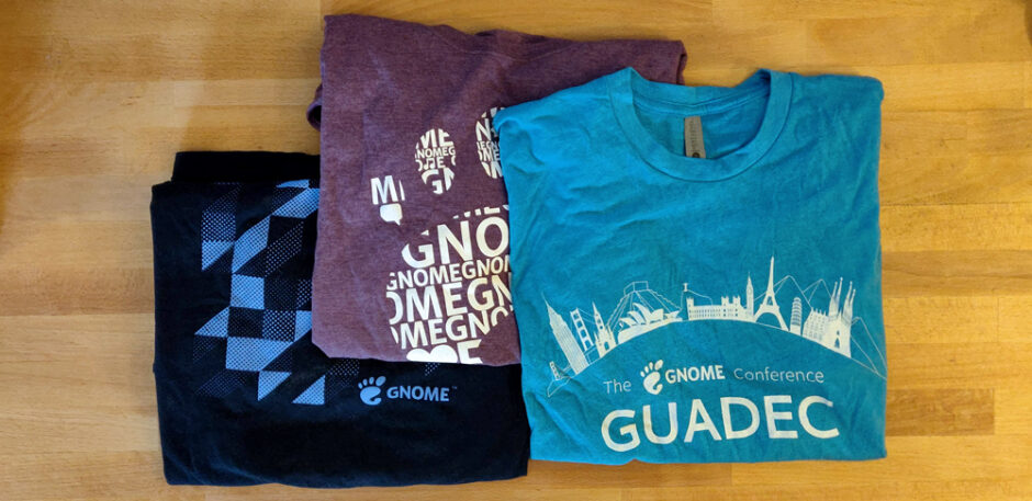 photo of GNOME t-shirts