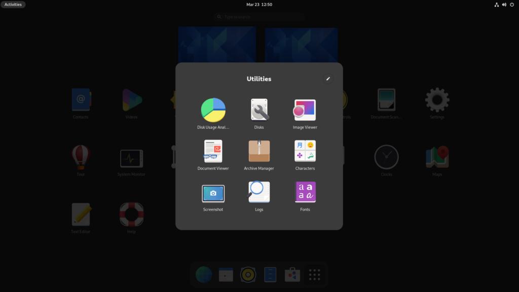 GNOME 40 folders